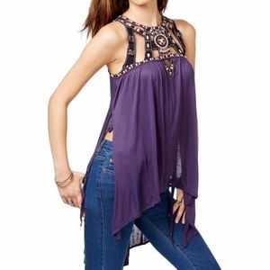 FREE PEOPLE Vision Quest Tank Top - Purple Med